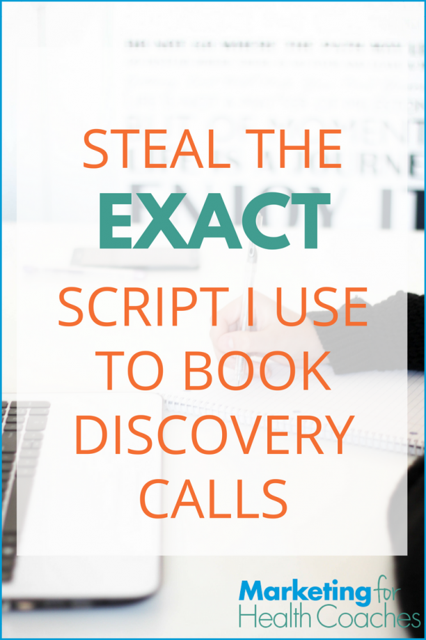Steal the script I use to book discovery calls | Marketing For Health Coaches