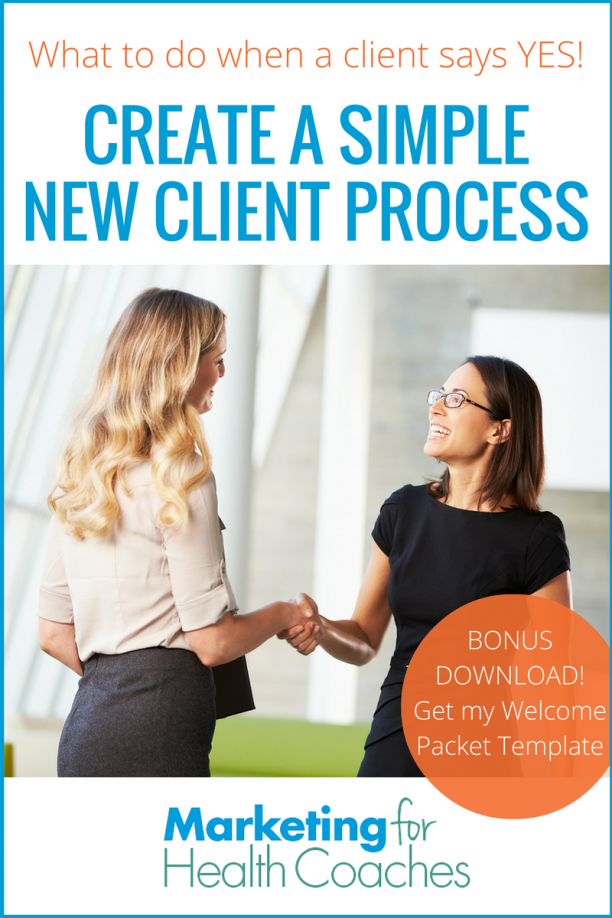 4 Step Process for New Clients | Marketing for Health Coaches