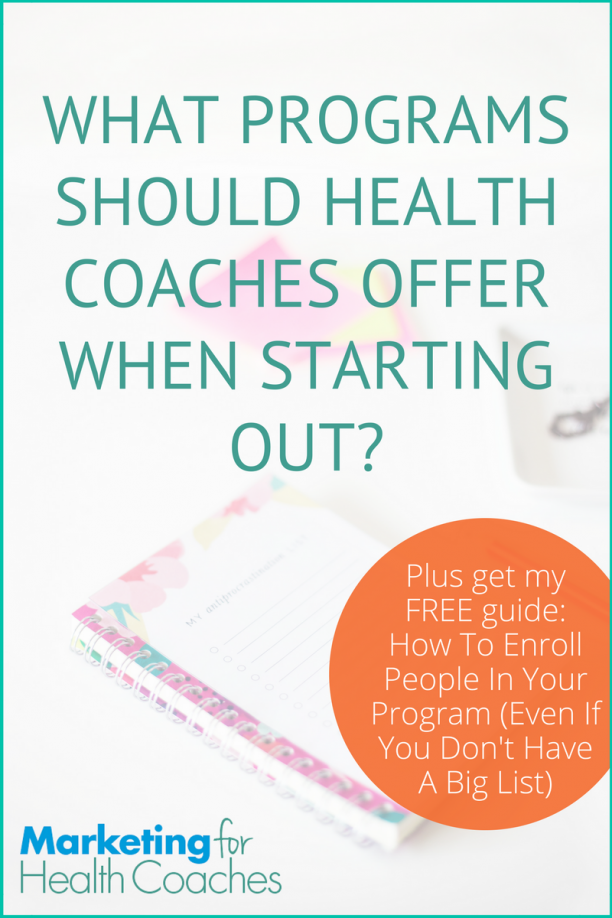 what programs should health coaches offer when starting out