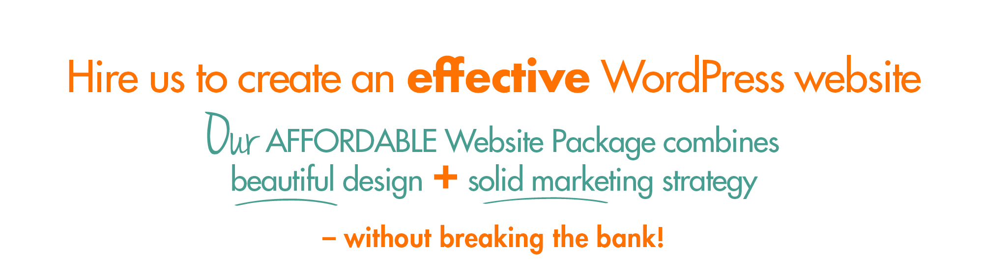 Hire us to create effective website v1