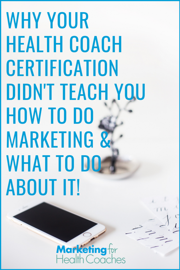 New to health coaching and still not getting clients? Your health coach certification won't teach you to get clients, so here's what you need to do now.