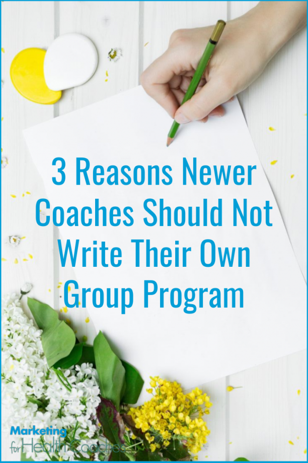 debating whether you should write your group program or go with a done-for-you option?
